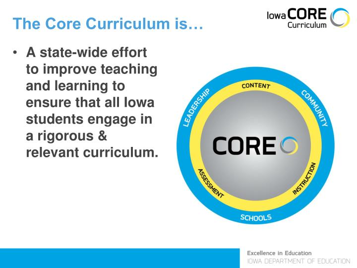 The Core Curriculum is…