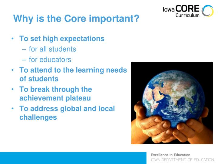 Why is the Core important?