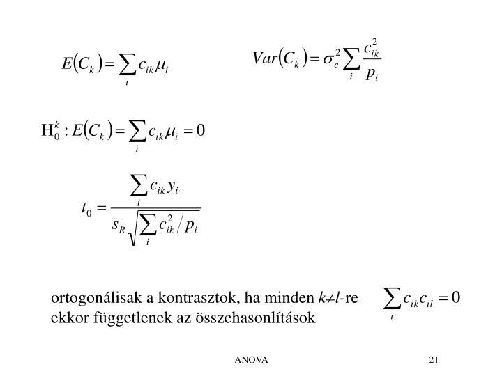 ortogonálisak a kontrasztok, ha minden