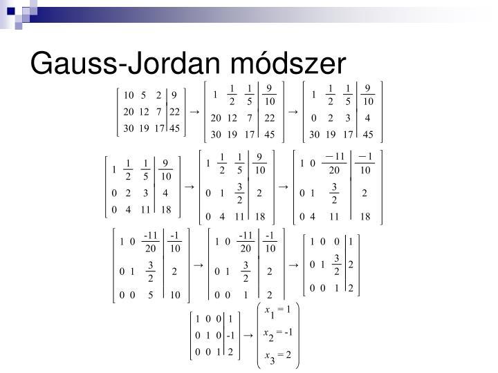 Gauss-Jordan módszer