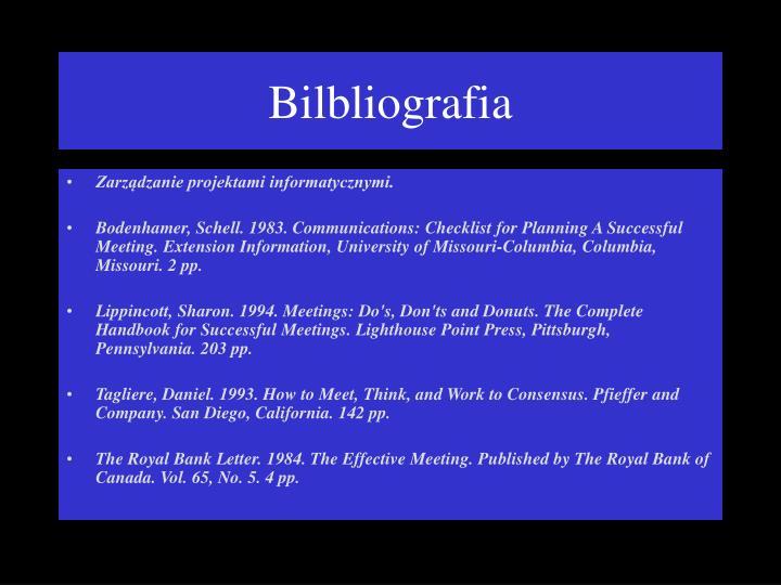 Bilbliografia