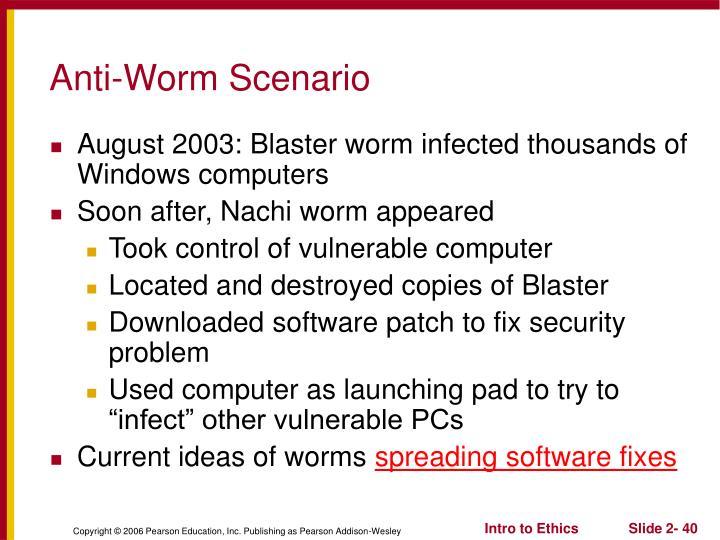 Anti-Worm Scenario