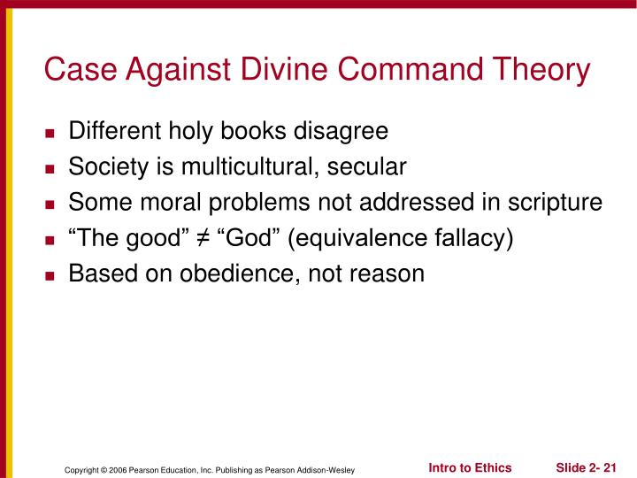 Case Against Divine Command Theory