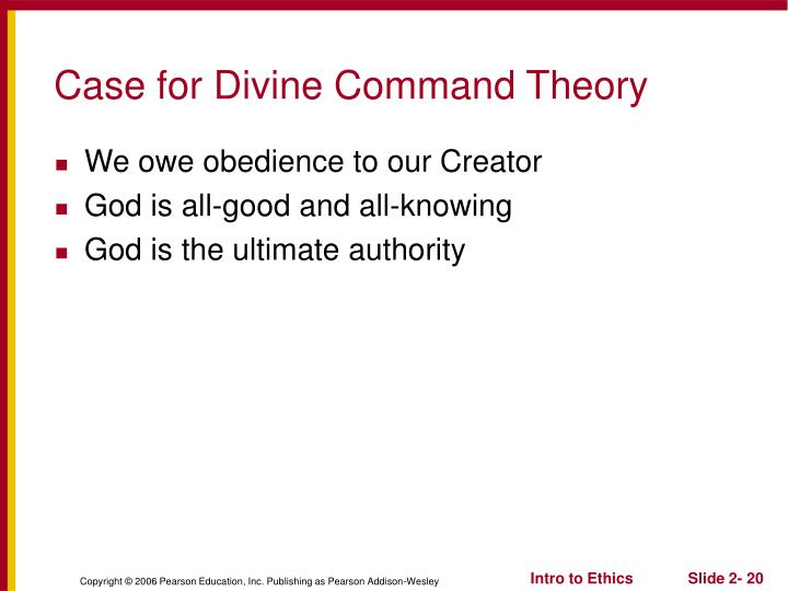 Case for Divine Command Theory