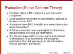 evaluation social contract theory