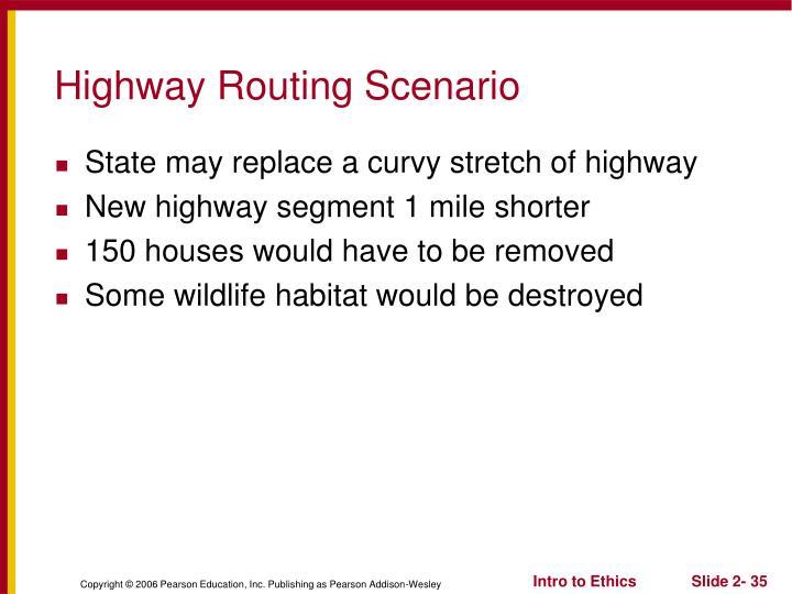 Highway Routing Scenario