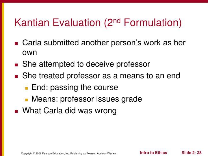 Kantian Evaluation (2