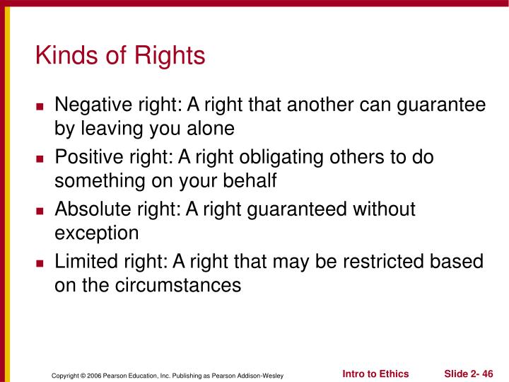 Kinds of Rights