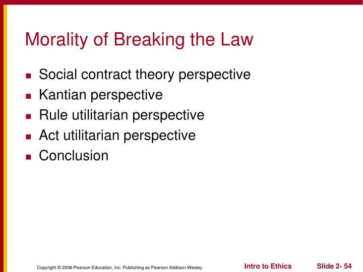 Morality of Breaking the Law