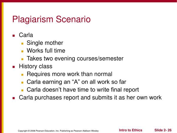 Plagiarism Scenario