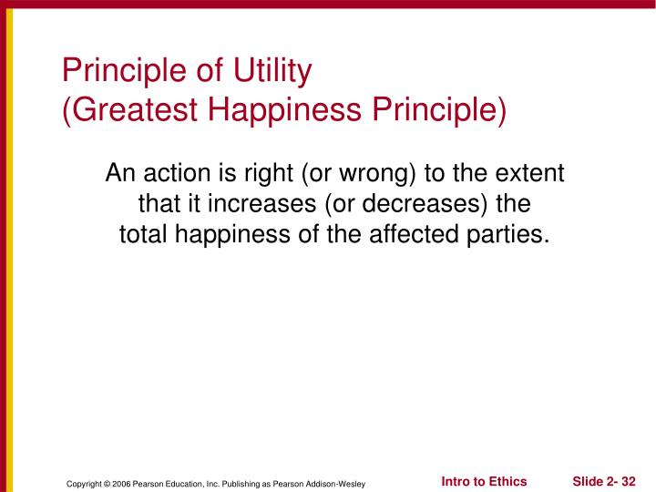 Principle of Utility