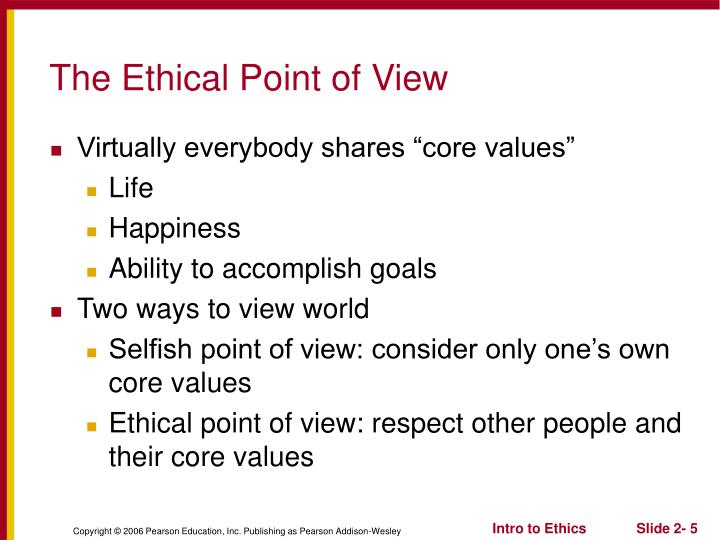 The Ethical Point of View
