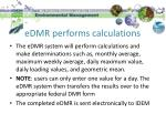 edmr performs calculations