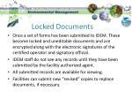 locked documents