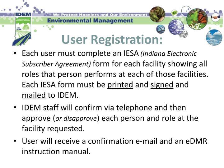 User Registration:
