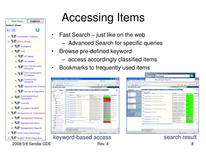 Accessing Items