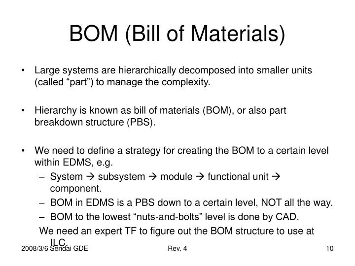 BOM (Bill of Materials)