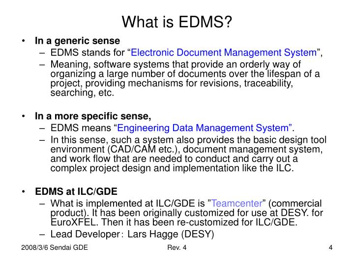 What is EDMS?