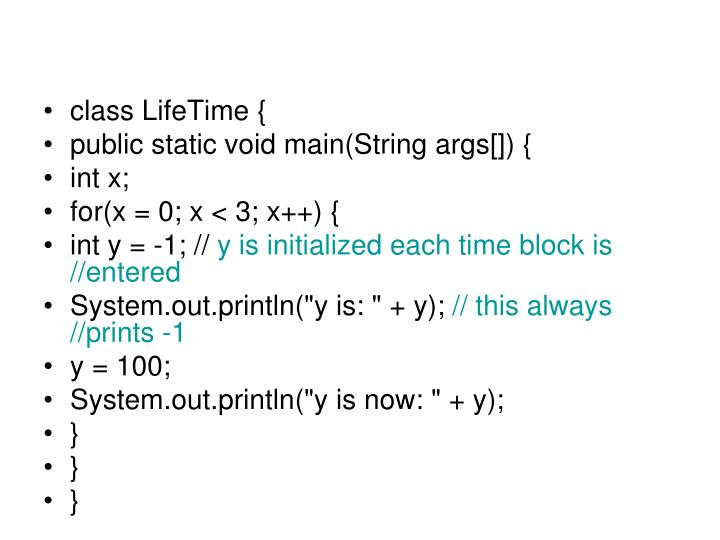 class LifeTime {