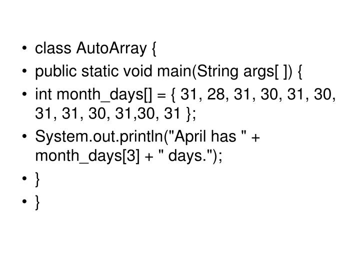 class AutoArray {