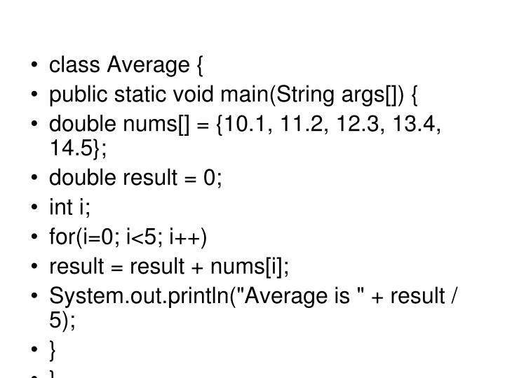 class Average {