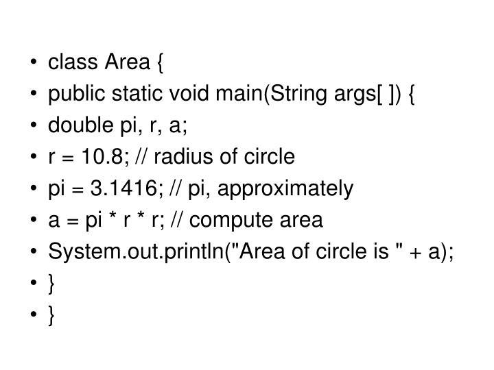 class Area {
