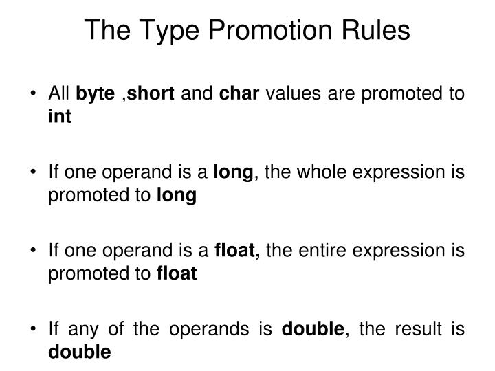 The Type Promotion Rules