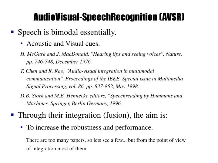 AudioVisual-SpeechRecognition (AVSR)