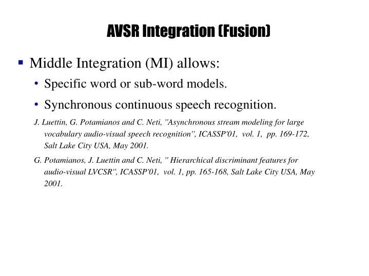 AVSR Integration (Fusion)