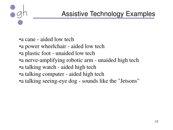 Assistive Technology Examples