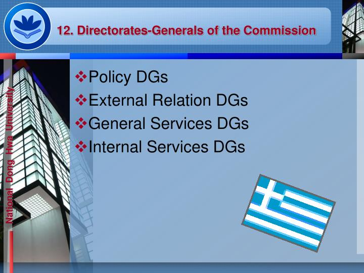 12. Directorates-Generals of the Commission