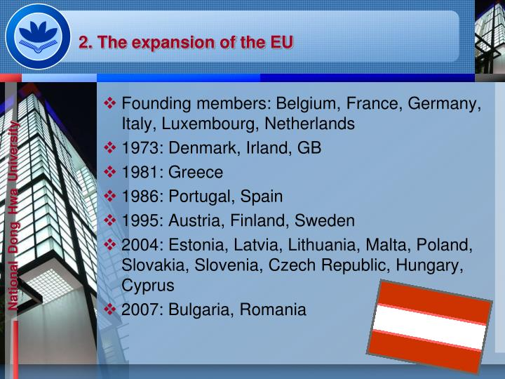 2. The expansion of the EU