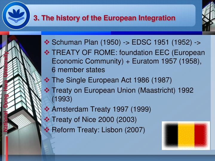 3. The history of the European Integration