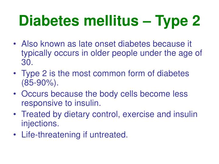 Diabetes mellitus – Type 2