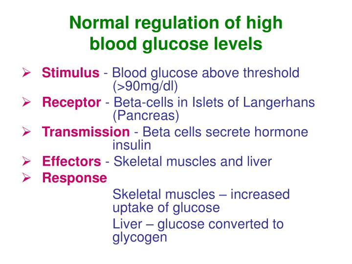 Normal regulation of high