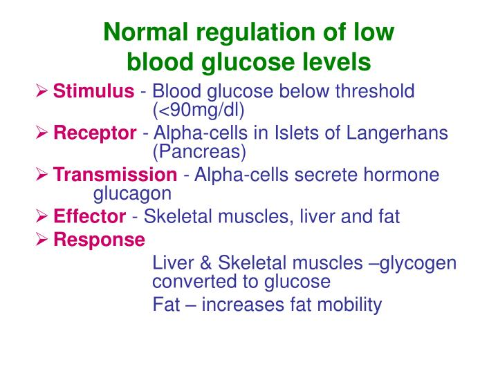 Normal regulation of low