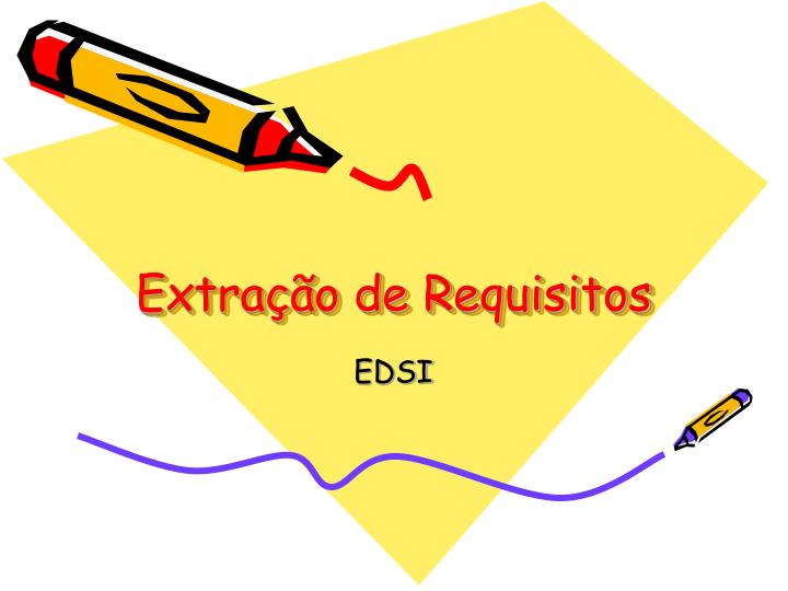 Extra o de requisitos