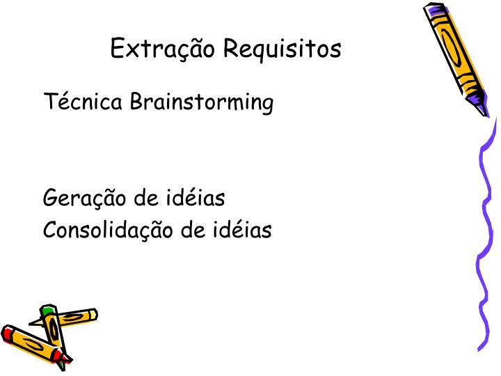 Extração Requisitos