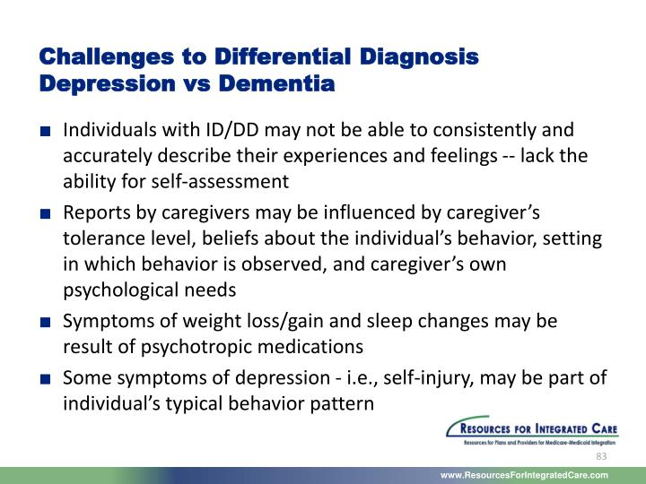 Challenges to Differential Diagnosis