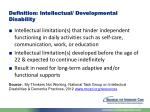 definition intellectual developmental disability