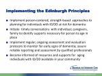 implementing the edinburgh principles