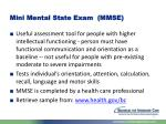mini mental state exam mmse