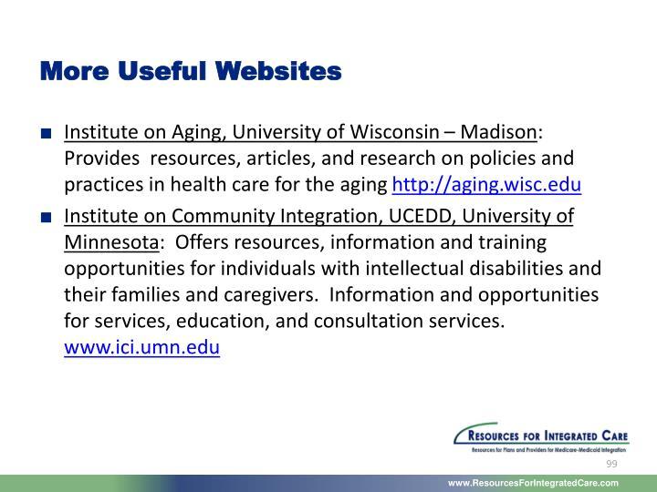 More Useful Websites