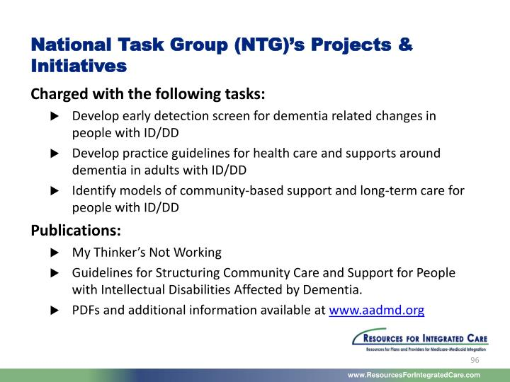 National Task Group (NTG)'s Projects & Initiatives