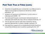post test true or false cont