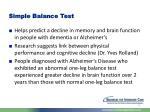 simple balance test