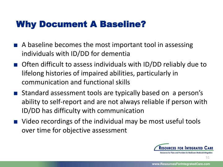Why Document A Baseline?