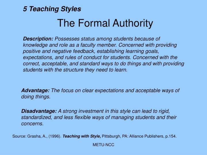 5 Teaching Styles