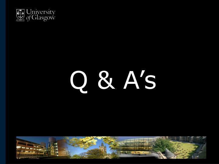 Q & A's