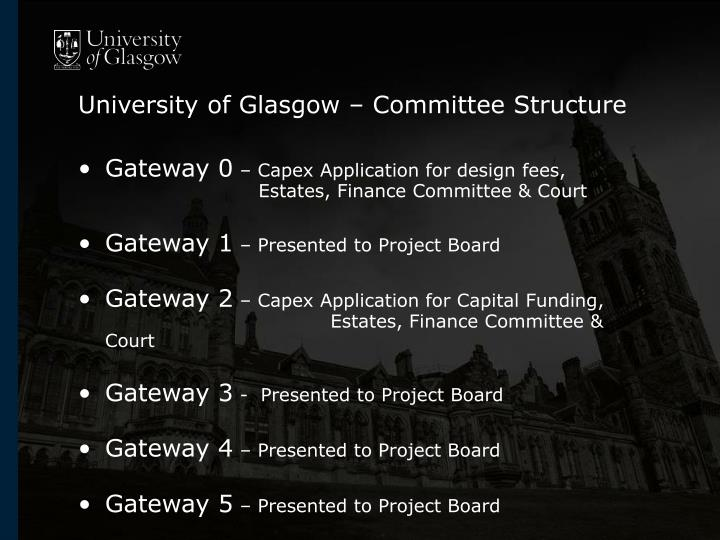 University of Glasgow – Committee Structure